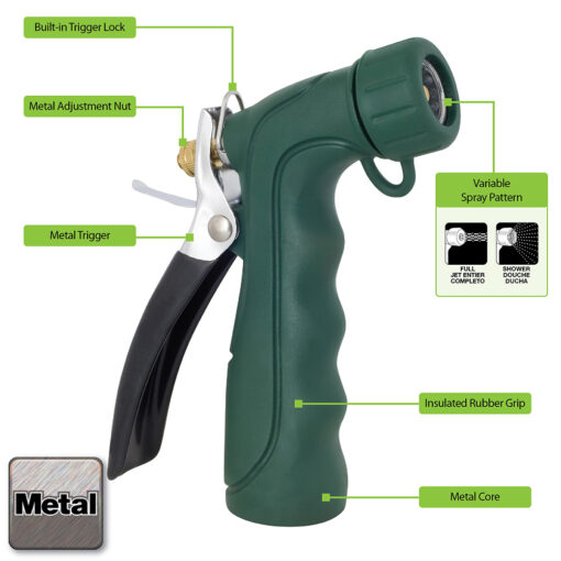 Melnor 493C Insulated Nozzle Features